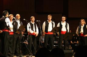 "Warming Up for Festival of Dalmatian ""Klapa"" Singing in Omis"
