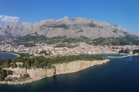 View of Makarska Riviera from Biokovo
