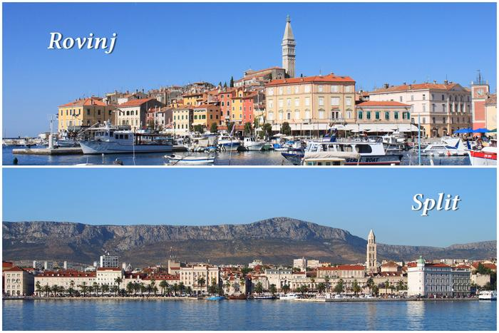 Croatian cities | Rovinj vs Split