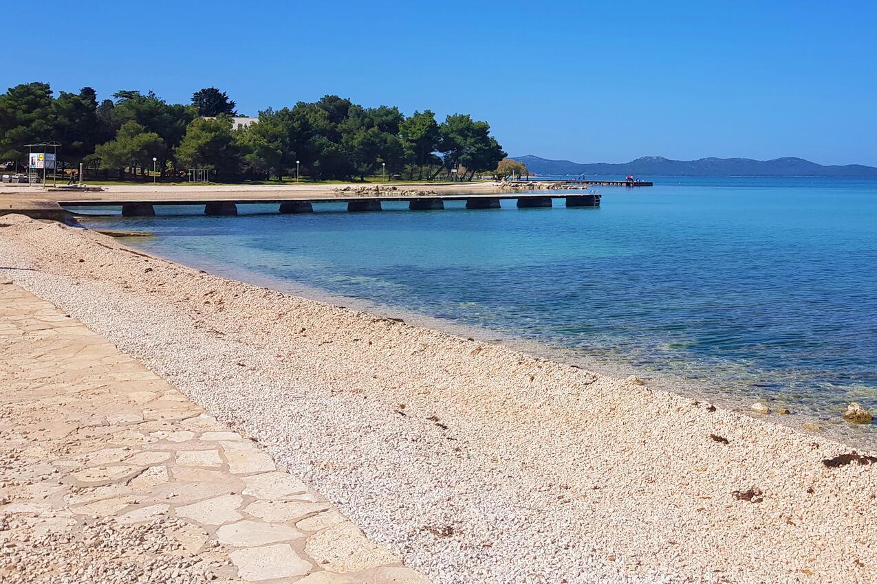 Pláž Zgon v mieste Zadar, Zadar.