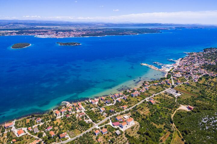 Tkon sur l'île Pašman (Sjeverna Dalmacija)