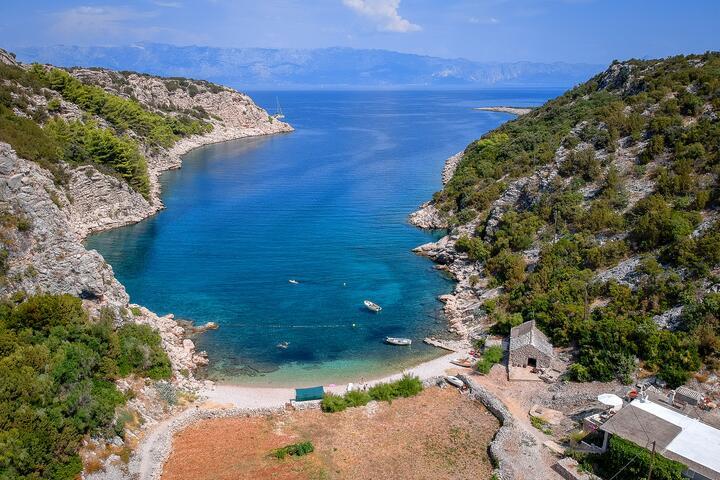 Kruševa na wyspie Hvar (Srednja Dalmacija)