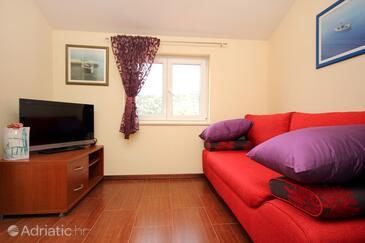Vinišće, Living room in the apartment, WIFI.
