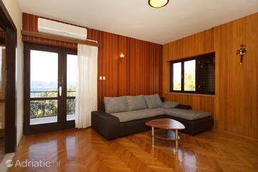 Marušići, Wohnzimmer in folgender Unterkunftsart apartment, Klimaanlage vorhanden und Haustiere erlaubt.