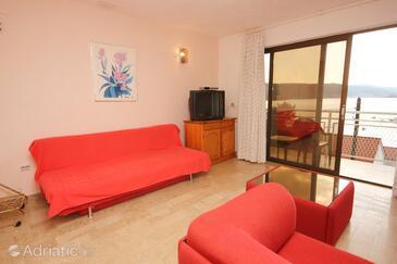 Poljica, Living room in the apartment, dostupna klima, dopusteni kucni ljubimci i WIFI.