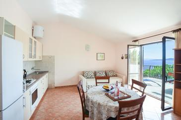 Marušići, Dining room in the apartment, dostupna klima, dopusteni kucni ljubimci i WIFI.