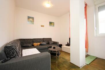Zadar, Dnevna soba v nastanitvi vrste apartment, Hišni ljubljenčki dovoljeni in WiFi.