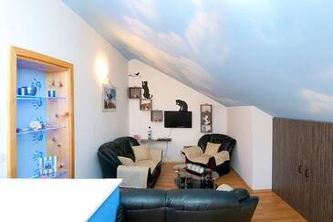 Vodice, Гостиная в размещении типа apartment, доступный кондиционер, Домашние животные допускаются и WiFi.