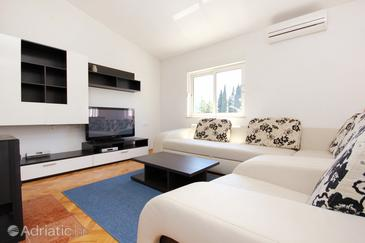 Makarska, Living room 1 in the apartment, dostupna klima i WIFI.