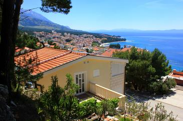 Baška Voda, Makarska, Propiedad 10027 - Apartamentos with pebble beach.