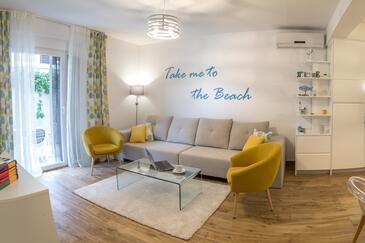 Klek, Гостиная в размещении типа apartment, доступный кондиционер и WiFi.