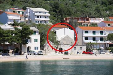 Igrane, Makarska, Obiekt 10033 - Apartamenty przy morzu ze żwirową plażą.
