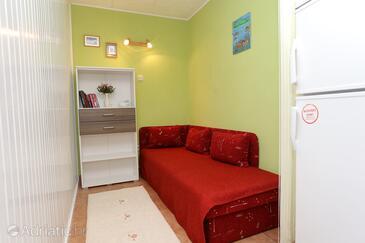 Korčula, Living room in the apartment, dopusteni kucni ljubimci i WIFI.