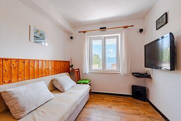 Korčula, Obývacia izba v ubytovacej jednotke apartment, dopusteni kucni ljubimci i WIFI.