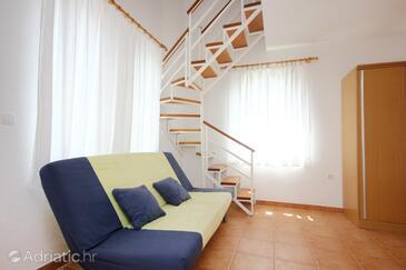 Orebić, Obývací pokoj v ubytování typu studio-apartment, s klimatizací a WiFi.