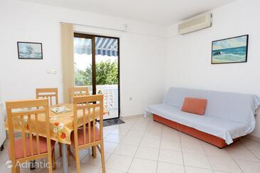 Orebić, Living room in the apartment, dostupna klima i WIFI.
