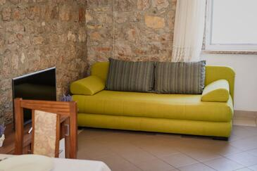 Trpanj, Obývací pokoj v ubytování typu apartment, s klimatizací, domácí mazlíčci povoleni a WiFi.