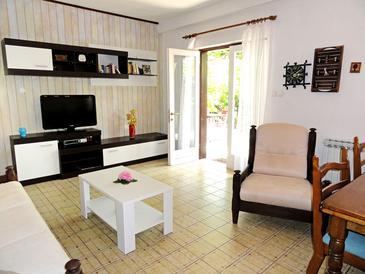 Orebić, Obývacia izba 1 v ubytovacej jednotke house, WIFI.