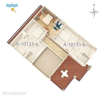 Trpanj, Plan in the studio-apartment, (pet friendly) and WiFi.