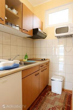 Kučište - Perna, Kitchen in the apartment, dopusteni kucni ljubimci i WIFI.