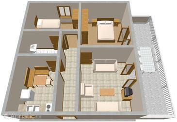 Pisak, Plan in the apartment.