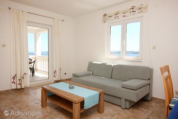 Kučište - Perna, Obývací pokoj v ubytování typu apartment, WiFi.