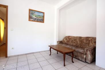 Orebić, Living room in the apartment, WiFi.