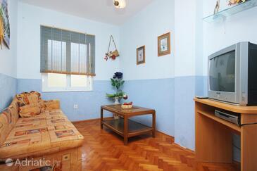 Orebić, Living room in the apartment, dopusteni kucni ljubimci i WIFI.