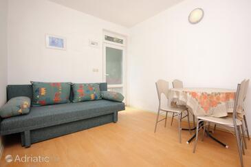 Trpanj, Jídelna v ubytování typu apartment, s klimatizací a WiFi.