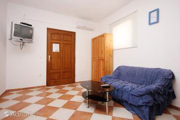 Orebić, Living room in the apartment, dostupna klima, dopusteni kucni ljubimci i WIFI.