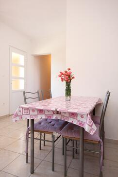 Orebić, Dining room in the apartment, dostupna klima i WIFI.