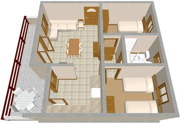 Marušići, Plan in the apartment.