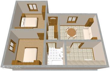 Zavode, План в размещении типа apartment, WiFi.