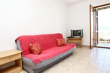 Pještata, Obývací pokoj v ubytování typu apartment, WiFi.