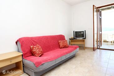 Pještata, Living room in the apartment, dopusteni kucni ljubimci i WIFI.