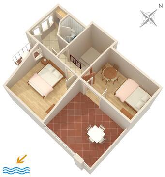 Zavode, Plan in the apartment, WIFI.