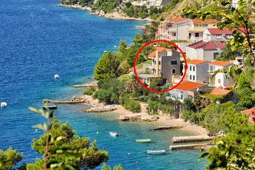 Zavode, Omiš, Property 1022 - Apartments near sea with pebble beach.