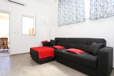Mali Ston, Living room in the apartment, air condition available, (pet friendly) and WiFi.