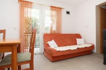 Duba Pelješka, Obývacia izba v ubytovacej jednotke apartment, dostupna klima i WIFI.