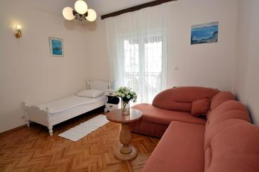 Podstrana, Obývací pokoj v ubytování typu room, WiFi.