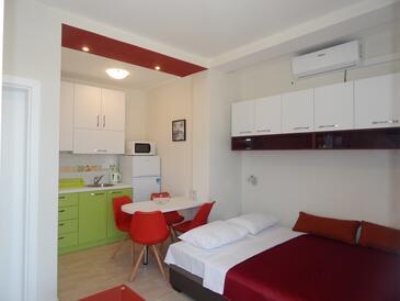 Ražanj, Столовая в размещении типа studio-apartment, Домашние животные допускаются и WiFi.