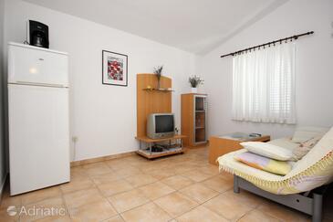 Žaborić, Living room in the apartment, dostupna klima i WIFI.