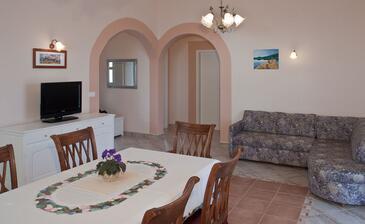 Zečevo Rtić, Living room in the apartment, dostupna klima, dopusteni kucni ljubimci i WIFI.