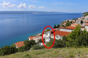 Pisak, Omiš, Hébergement 10323 - Appartement à proximité de la mer avec une plage de galets.