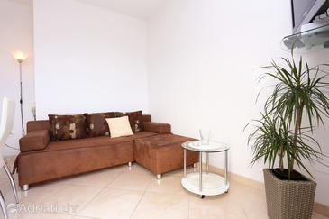Seget Vranjica, Obývací pokoj v ubytování typu apartment, WiFi.