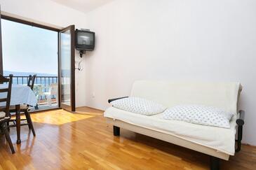 Stanići, Salon dans l'hébergement en type apartment, WiFi.