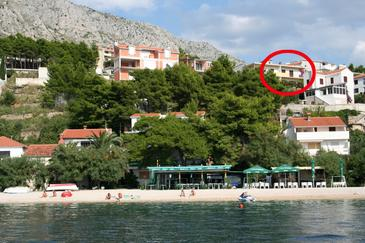 Stanići, Omiš, Hébergement 10350 - Appartement à proximité de la mer avec une plage de galets.