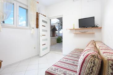 Poljica, Obývacia izba v ubytovacej jednotke apartment, dostupna klima i WIFI.