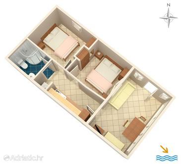 Seget Donji, Plan in the apartment, WIFI.