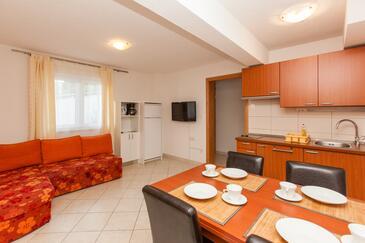 Okrug Gornji, Obývacia izba v ubytovacej jednotke apartment, WIFI.